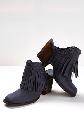 braided fringe clogs