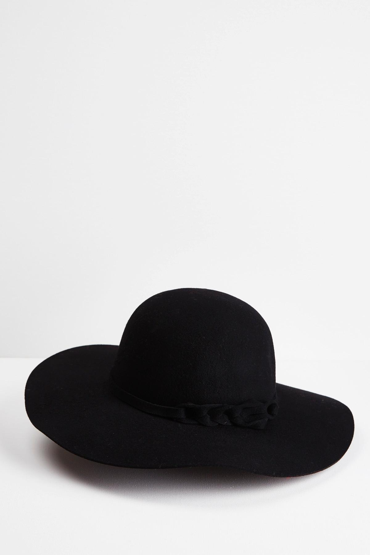 Twisted Band Floppy Hat