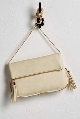 zip bottom foldover clutch