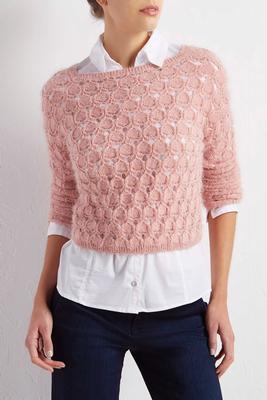 circle knit eyelash sweater