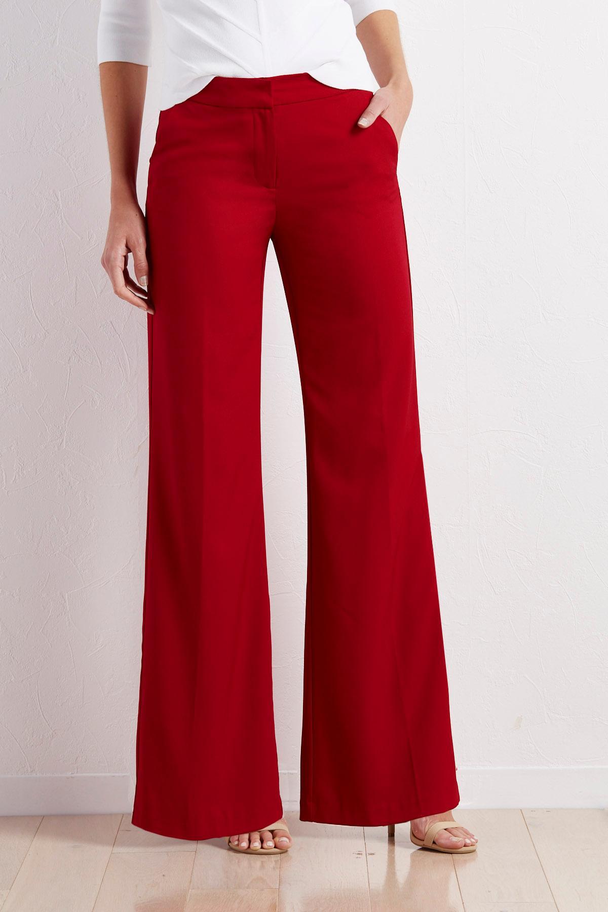 Tailored Wide Leg Pants