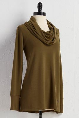 cowl neck athleisure tunic