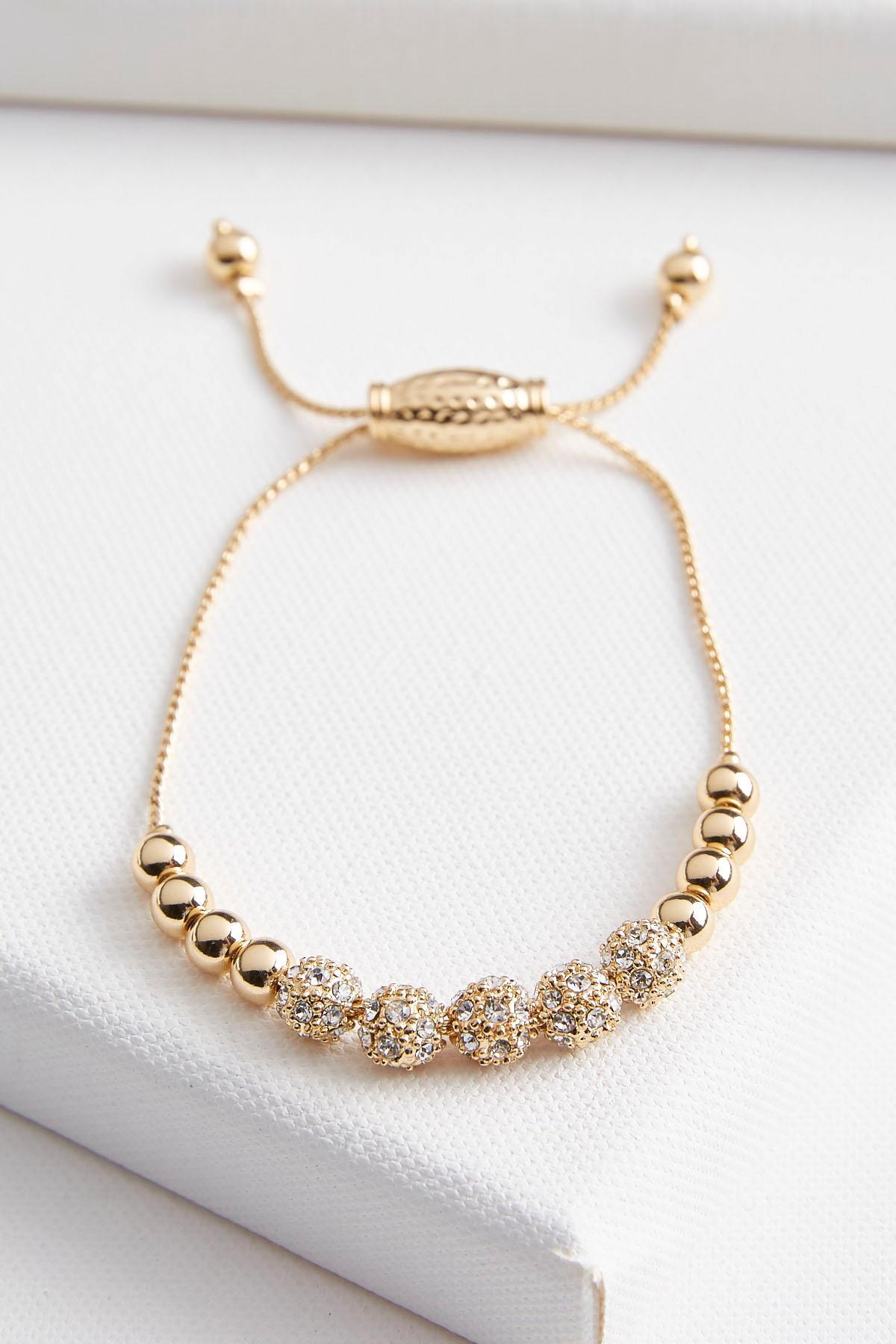 Beaded Pave Ball Bracelet