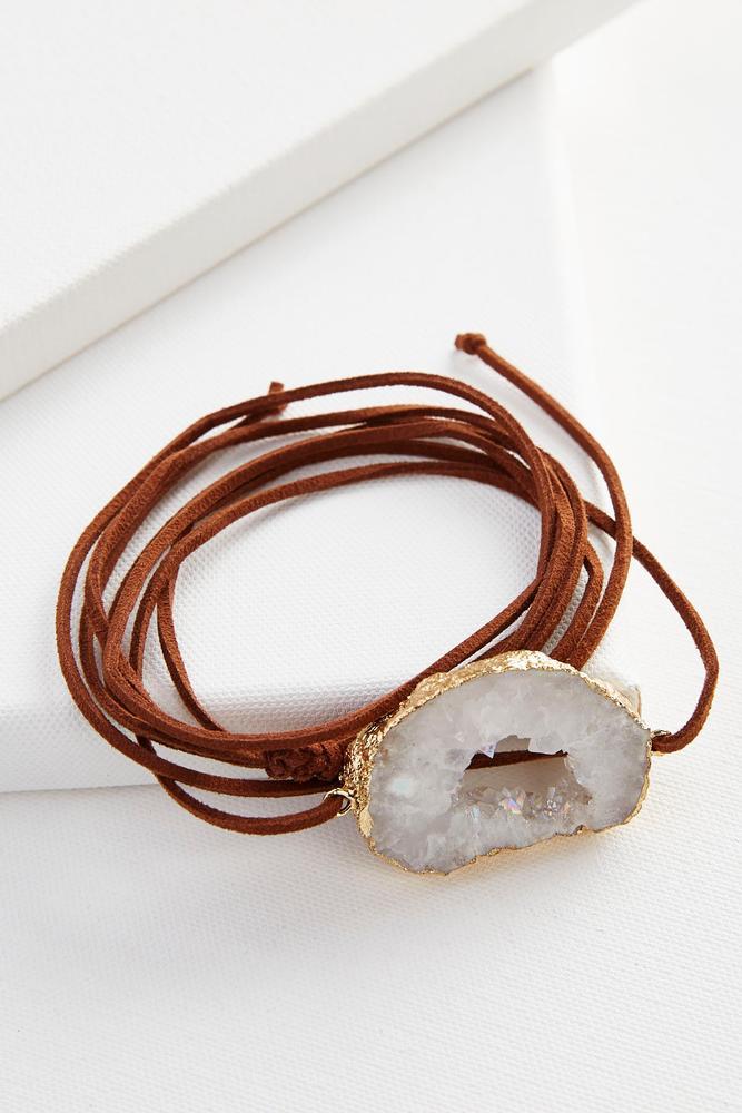 Druzy Stone Wrap Bracelet