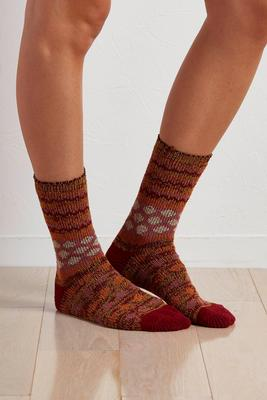 mixed print boot socks