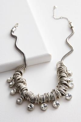 stone ring short necklace