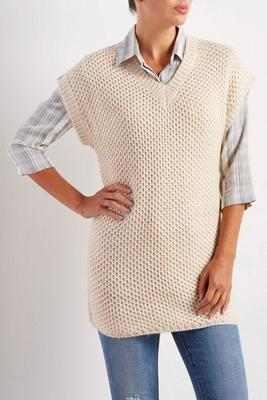 shark tooth knit tunic