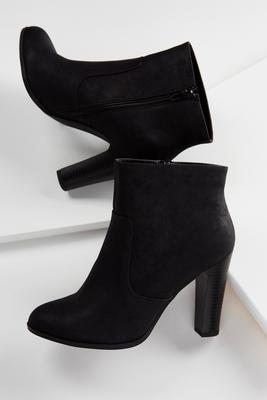 faux leather shooties