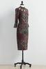 Scroll Cutout Mock Neck Sweater Dress