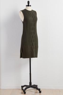 cable knit sheath sweater dress