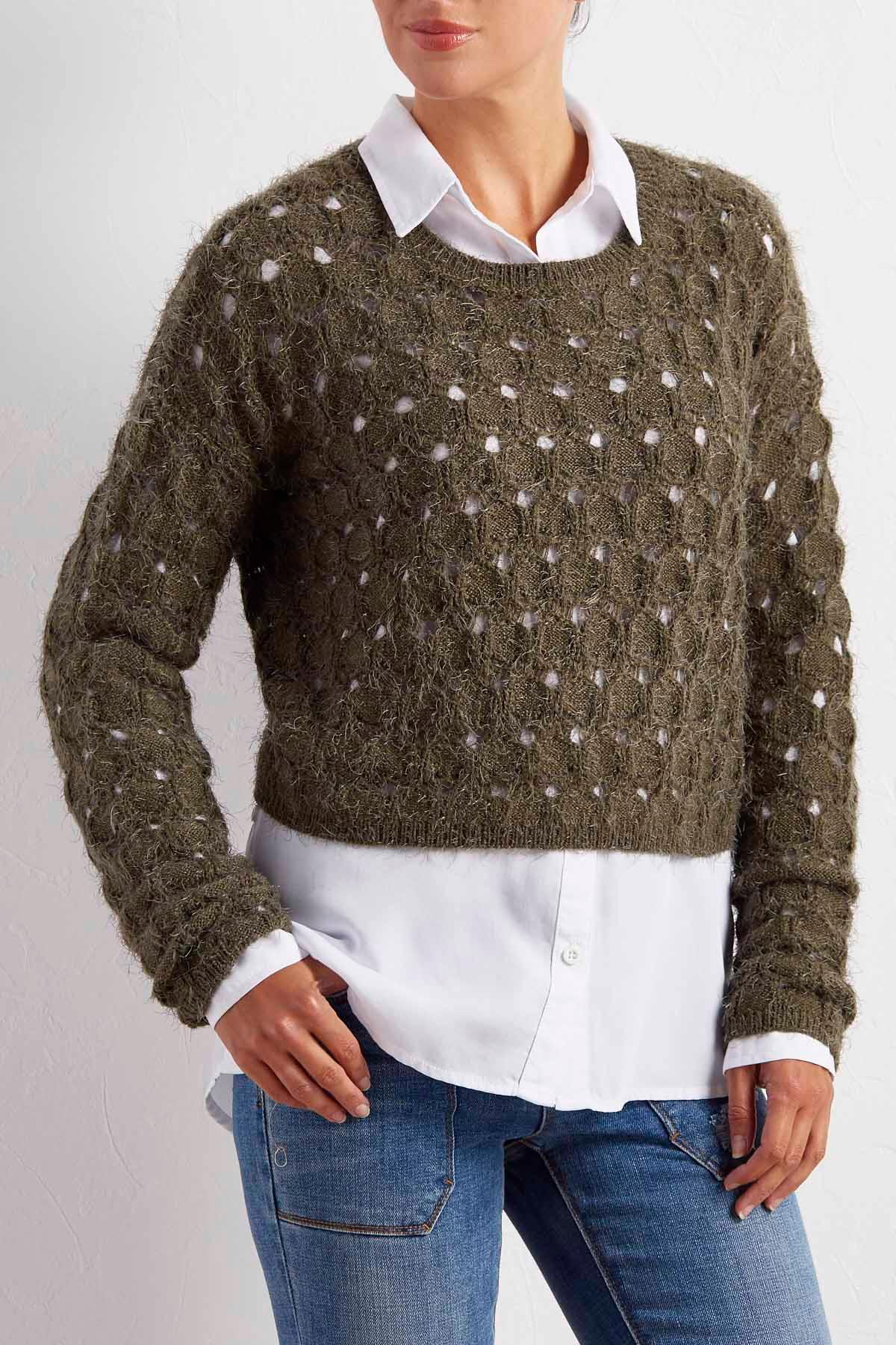 Open Knit Eyelash Sweater