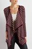 Striped Draped Cardigan
