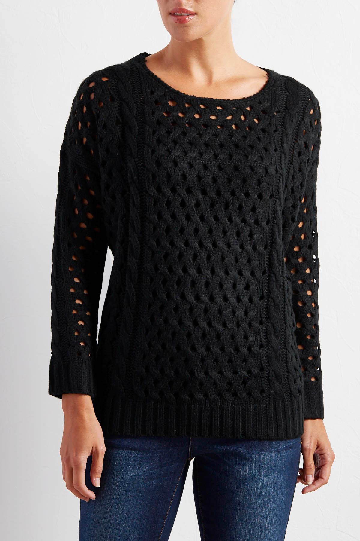 Fishnet Knit Sweater