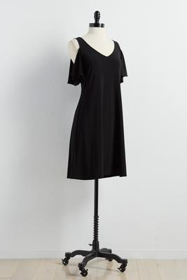 bare shoulder shift dress