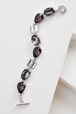 mixed stone toggle bracelet