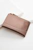 Metallic Double Zipper Mini Wallet