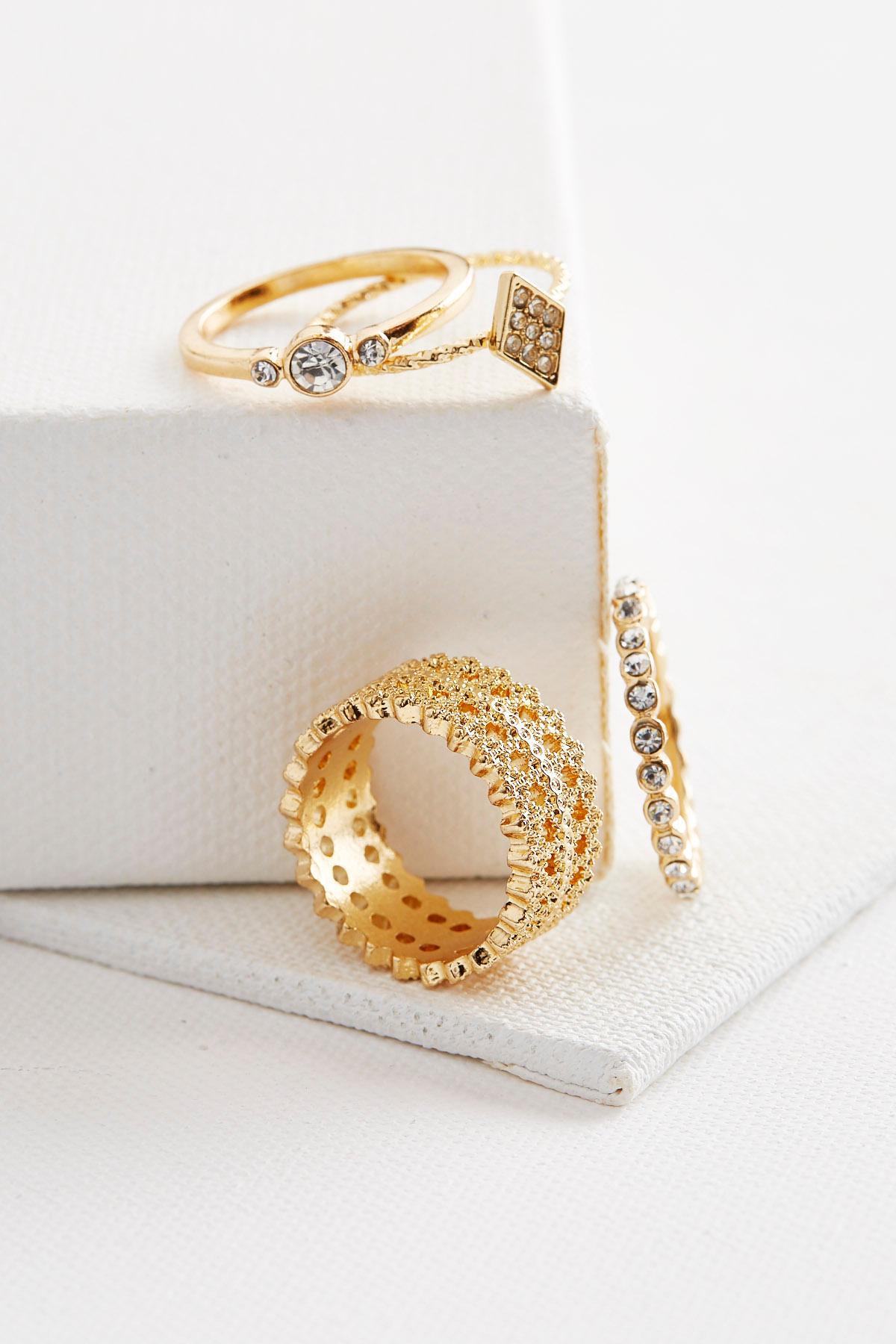 Beaded Filigree Ring Set
