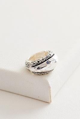 hammered statement ring