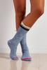 Single Striped Ruffle Trim Boot Sock Set
