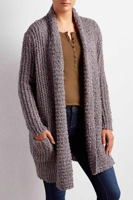 chunky popcorn knit cardigan