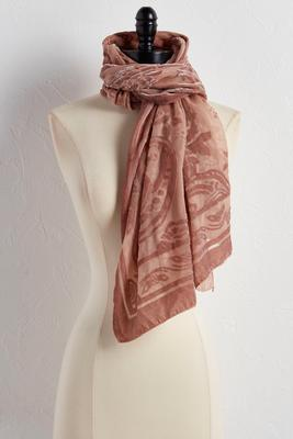 paisley velvet burnout wrap