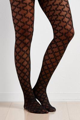 lace scroll tights