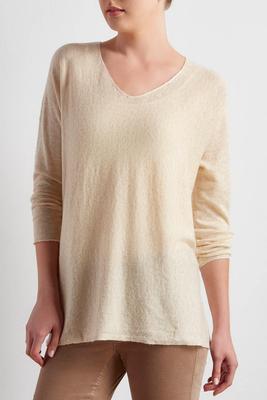high-low swing sweater