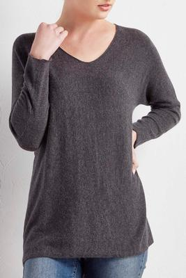 high-low swing sweater