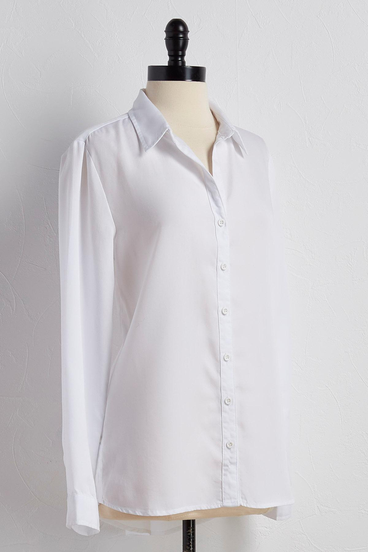 Button Side Button Down Shirt