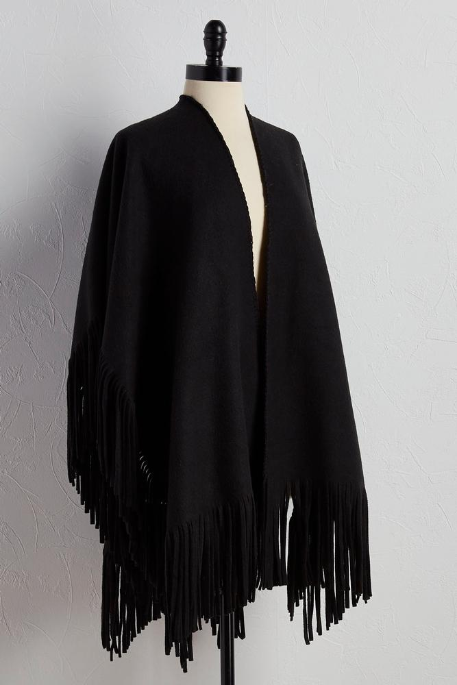 Oversized Fringe Wool Wrap