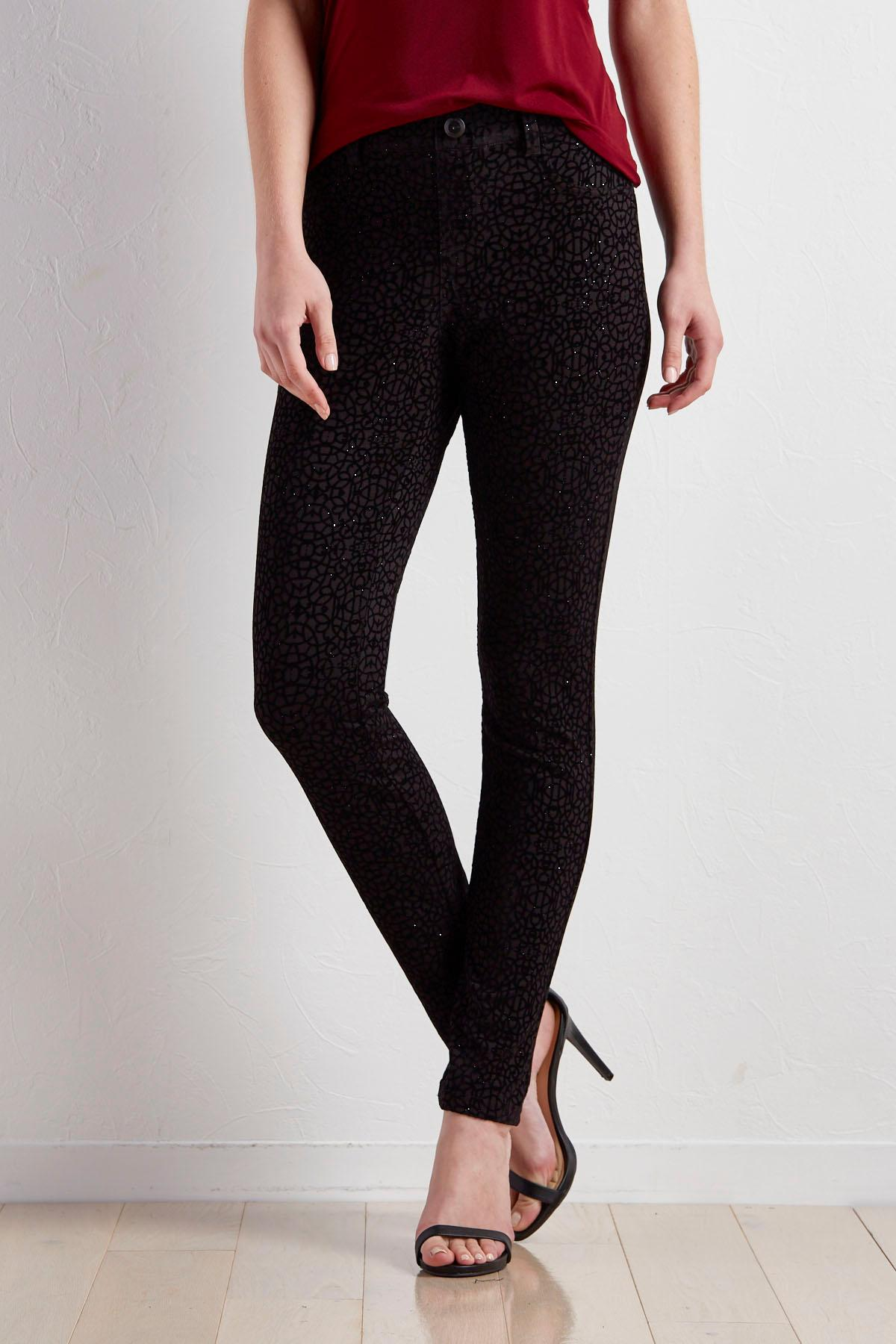 Flocked Mosaic Ponte Leggings