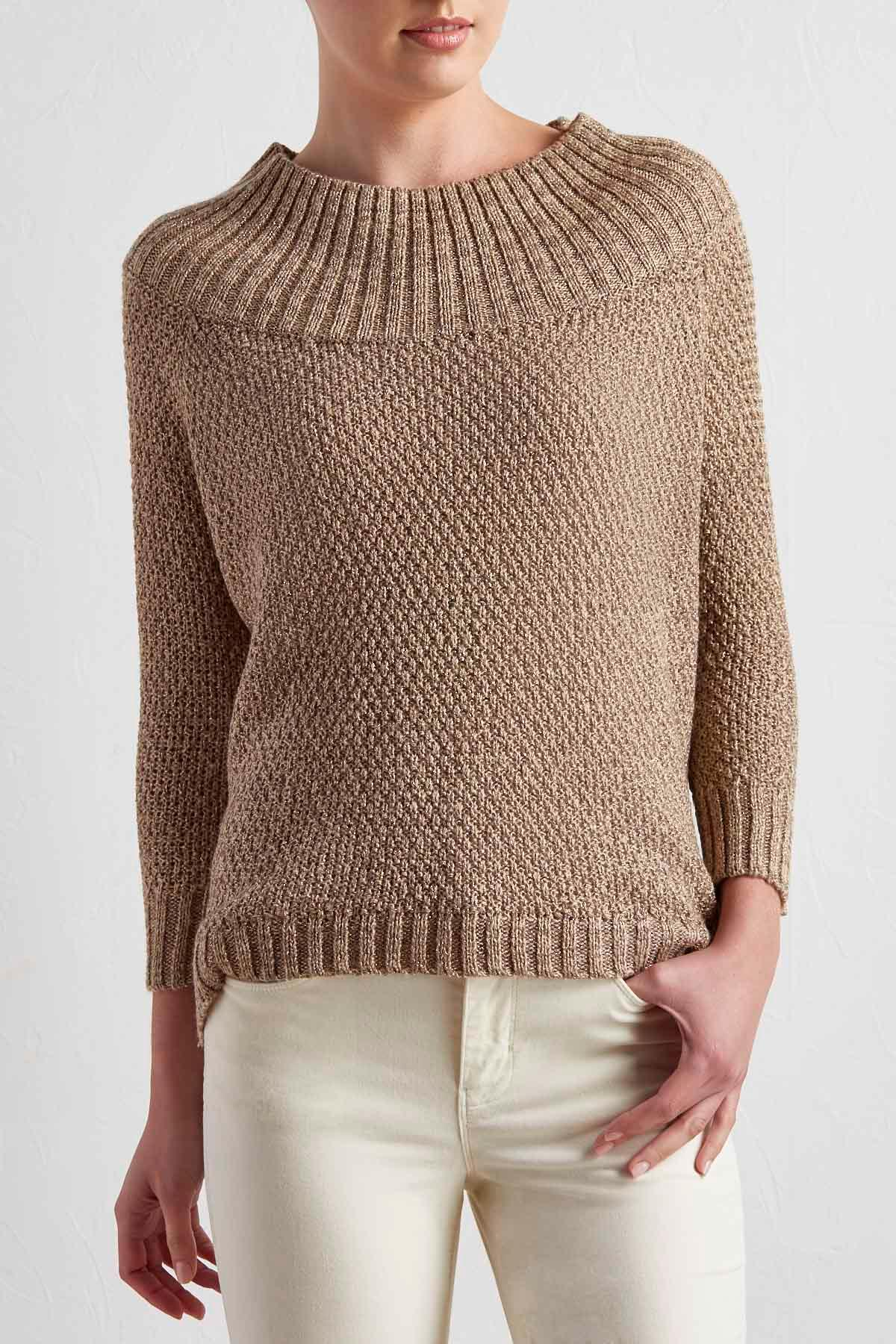 Lurex Boat Neck Sweater