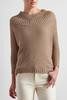 Metallic Boat Neck Sweater