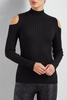 Bare Shoulder Mock Neck Sweater