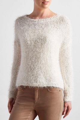 sequin eyelash sweater