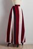 Mitered Striped Maxi Skirt