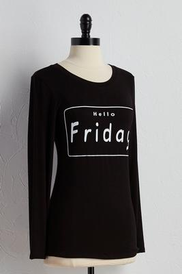 hello friday graphic tee