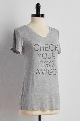 check your ego graphic tee