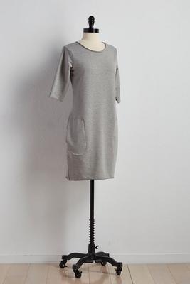 raw edge lounge t-shirt dress