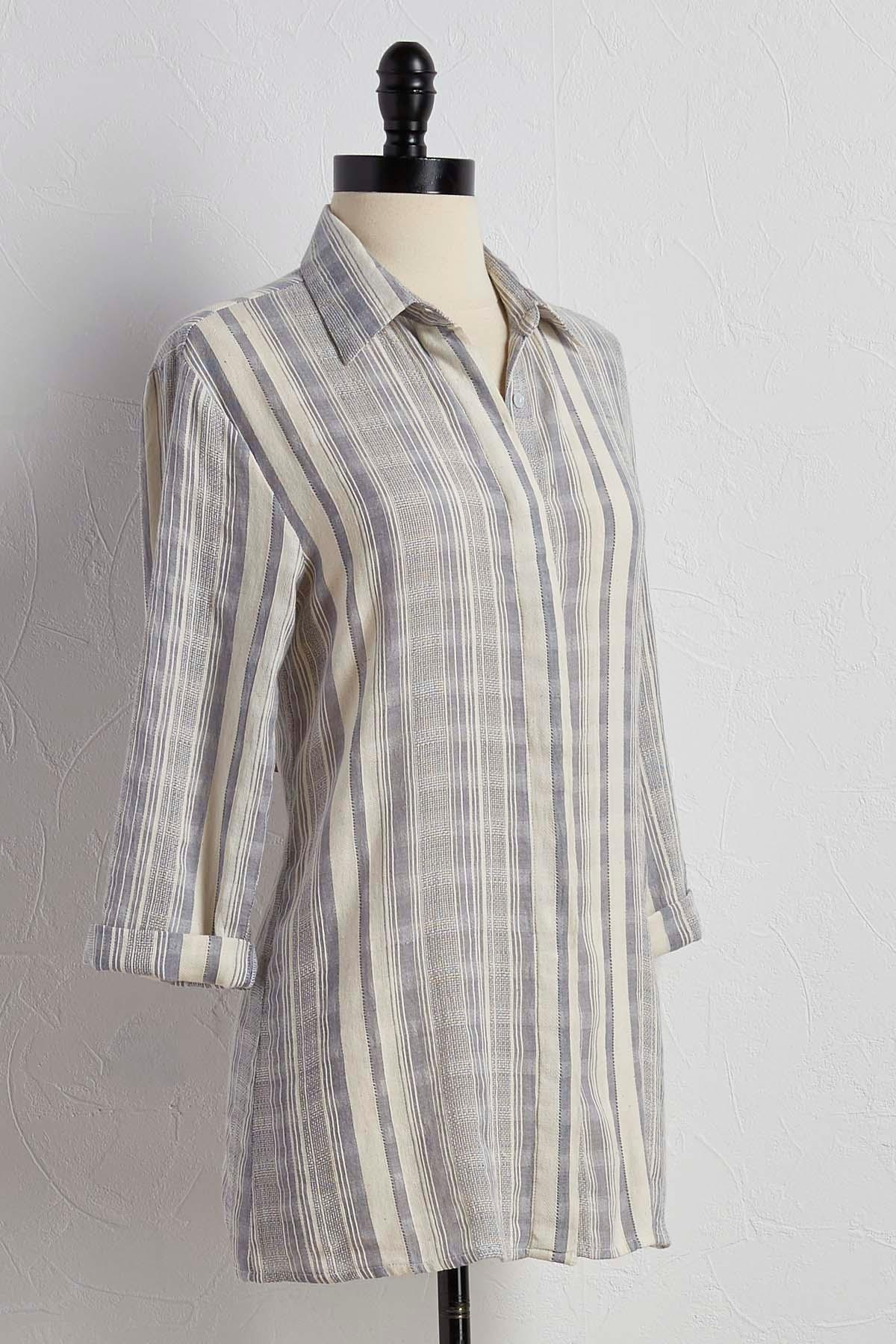 Striped Boyfriend Button Down Shirt