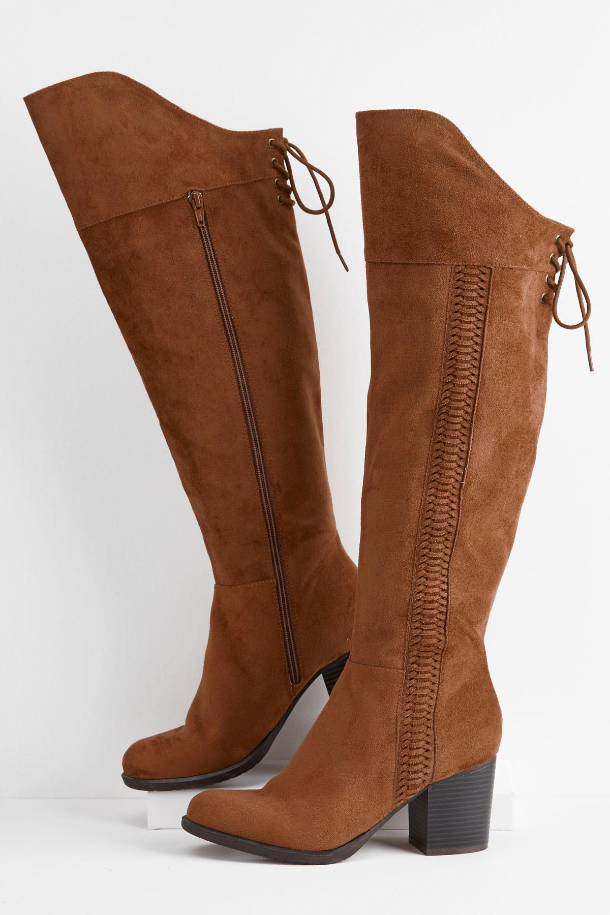 Whipstitch Over The Knee Boots