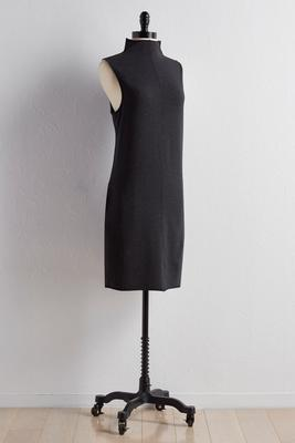 mock neck lounge dress