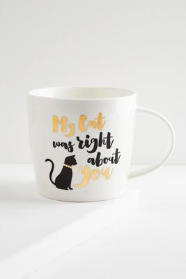 cat was right mug