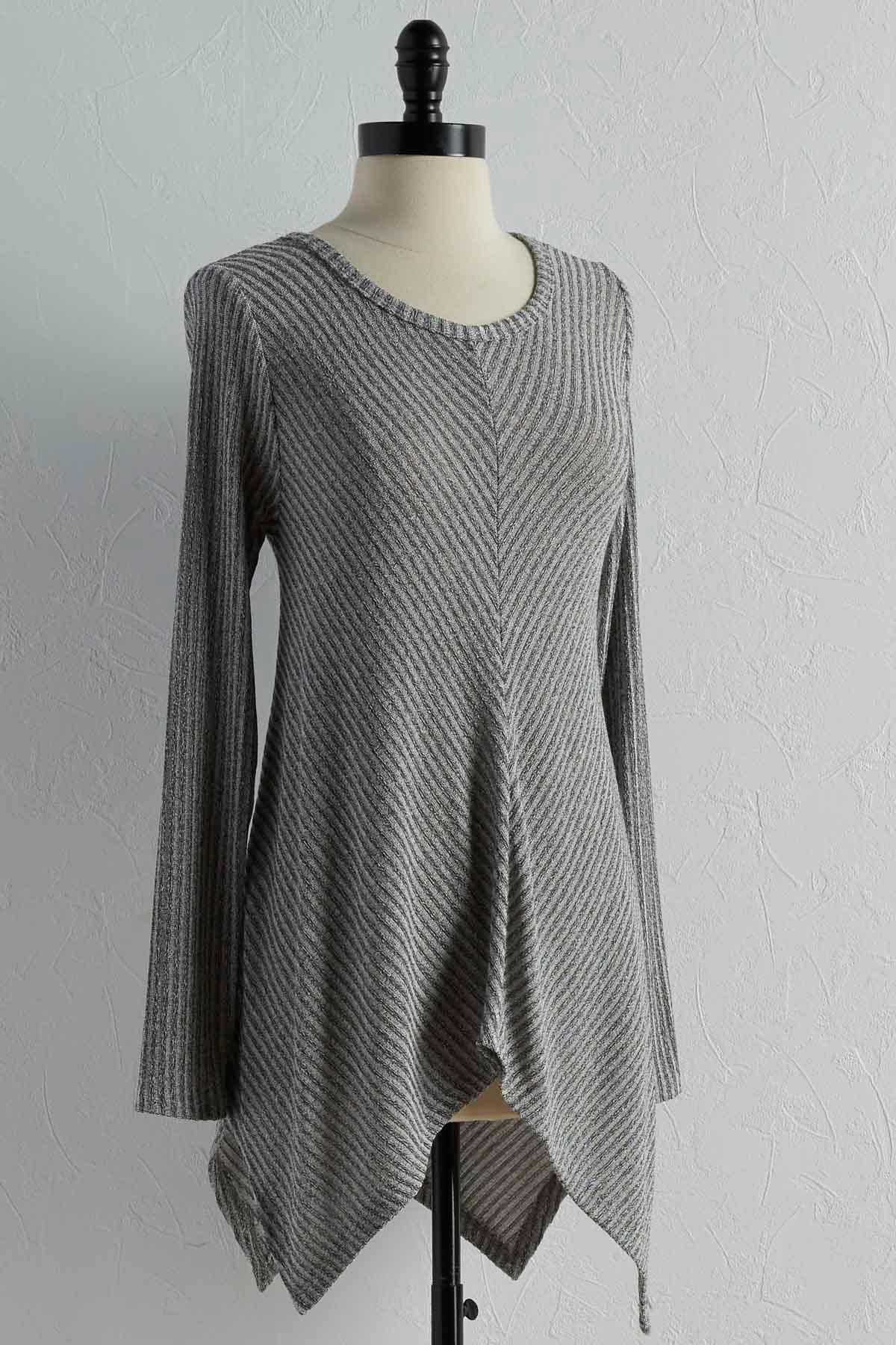 Button Back Ribbed Tunic