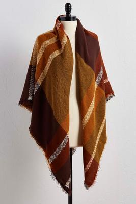 plaid square scarf