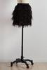 Tiered Feather Mini Skirt