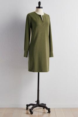 split neck lounge sweatshirt dress