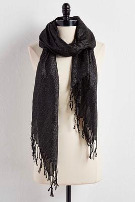 lurex oblong scarf