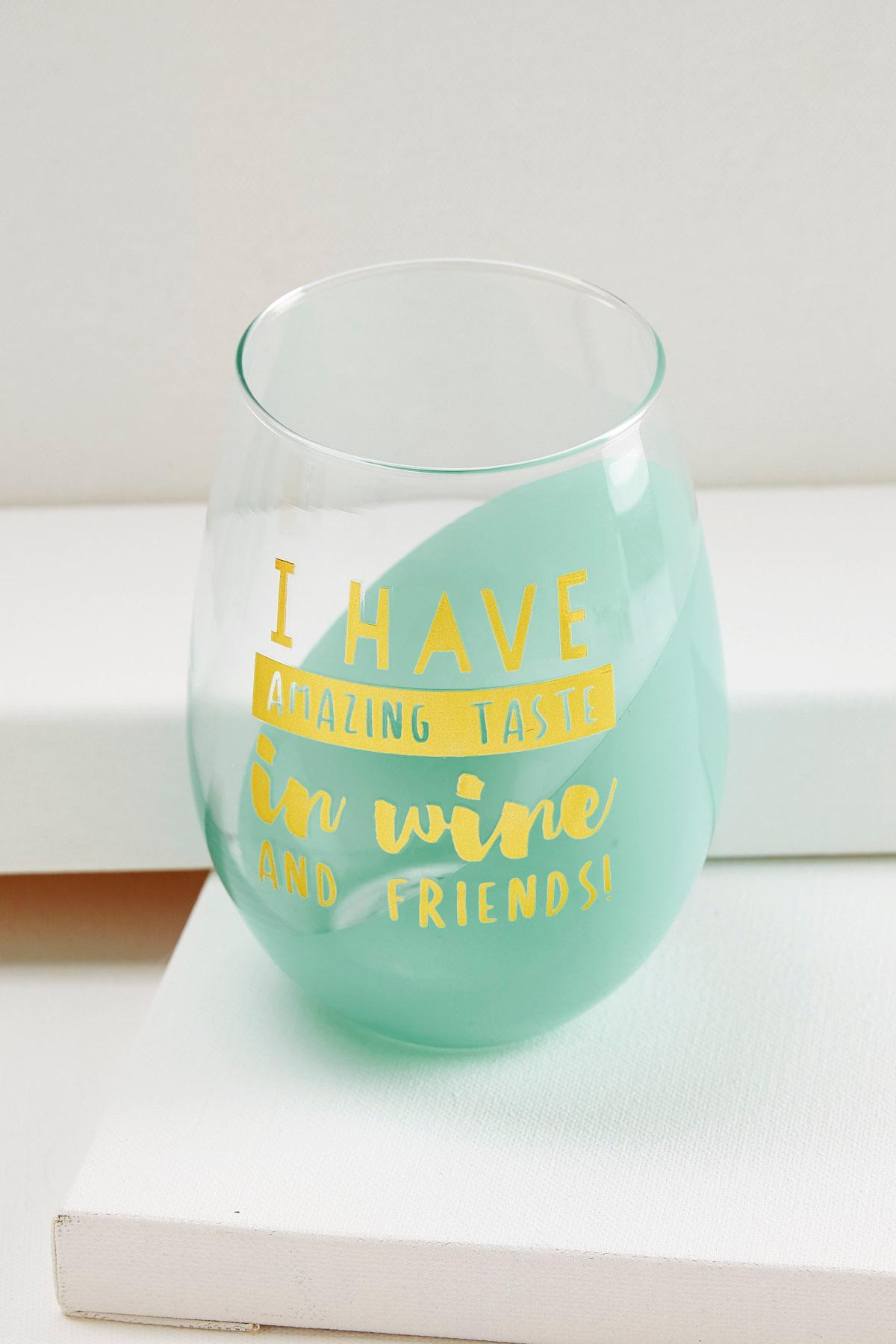 Amazing Taste Stemless Wine Glass
