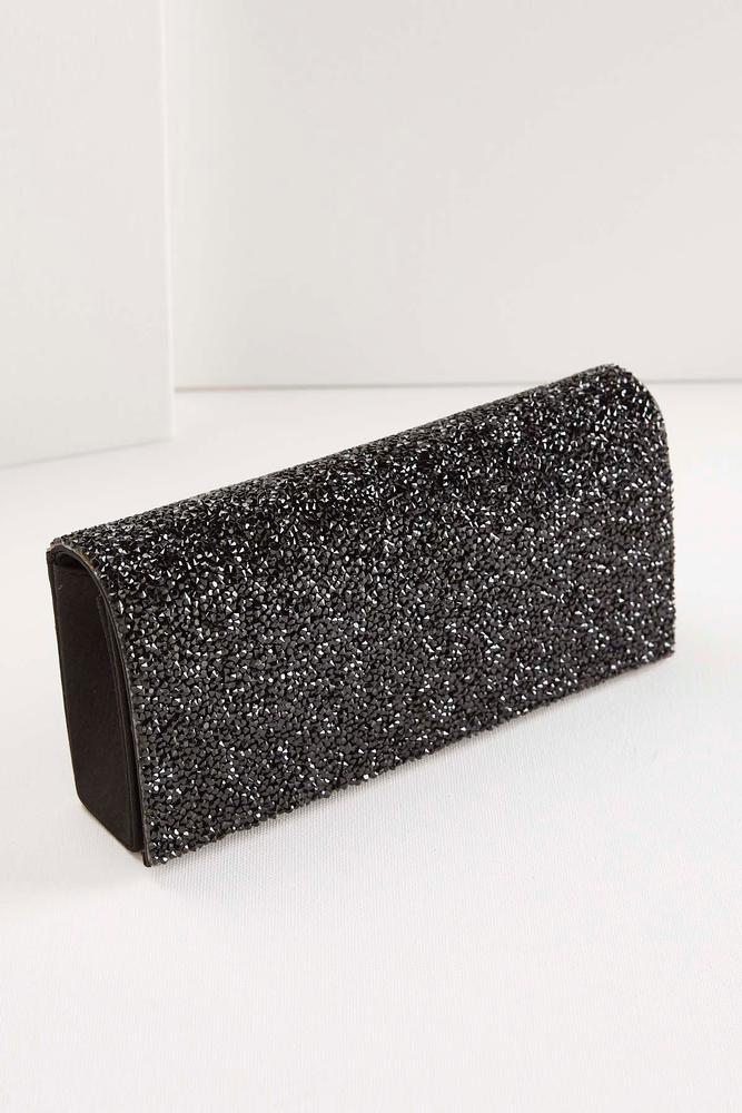 Chipped Stone Flap Clutch